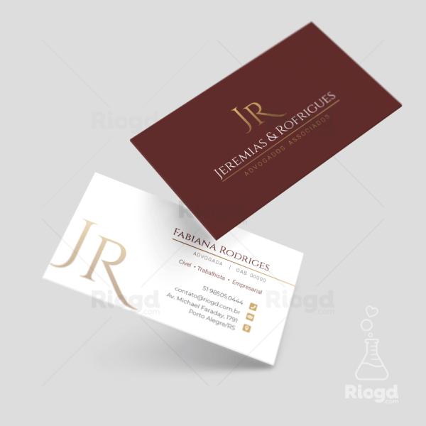 Cartão de Visita Advocacia Golden Red