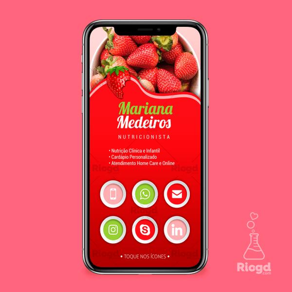 Cartão Digital Nutrição Morango