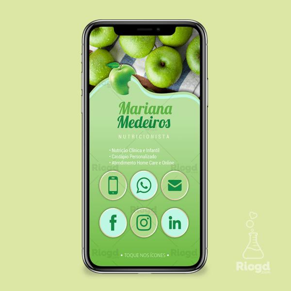 Cartão Digital Nutrição Maçã Verde