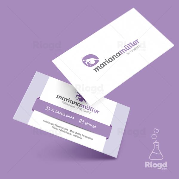 Cartão de Visita Fisioterapia Equilíbrio Orquídea