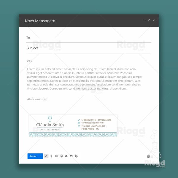 Assinatura de e-mail Psicologia Dubai