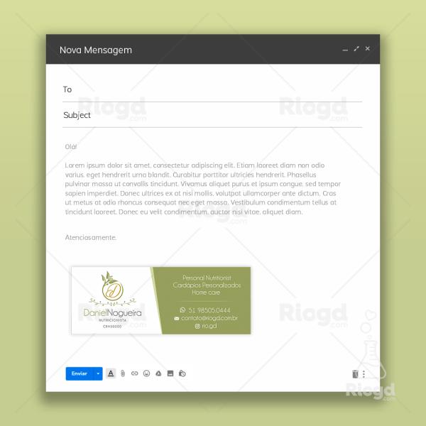 Assinatura de e-mail Nutricionista Olive