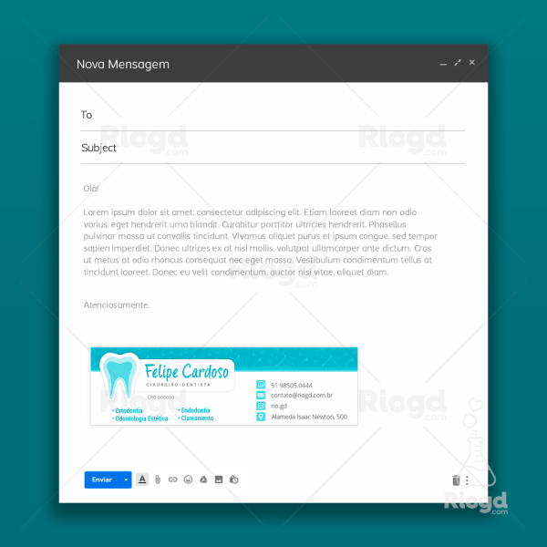 Assinatura de e-mail odontologia Azul