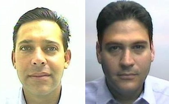 These mug shots of Eugenio Hernández Flores and Oscar Gómez Guerra were issued by the U.S. Attorney's Office Southern District of Texas.