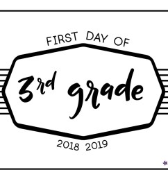 Back to School Printable Signs 2018 [ 997 x 1290 Pixel ]