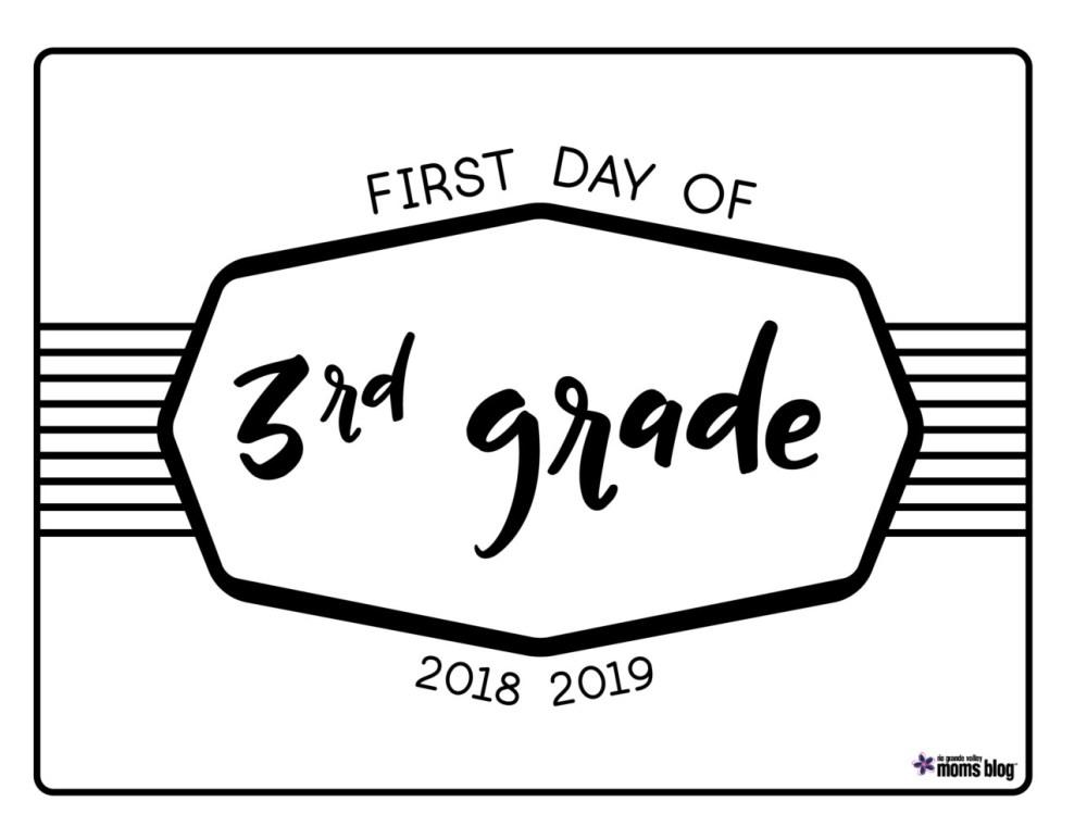 medium resolution of Back to School Printable Signs 2018