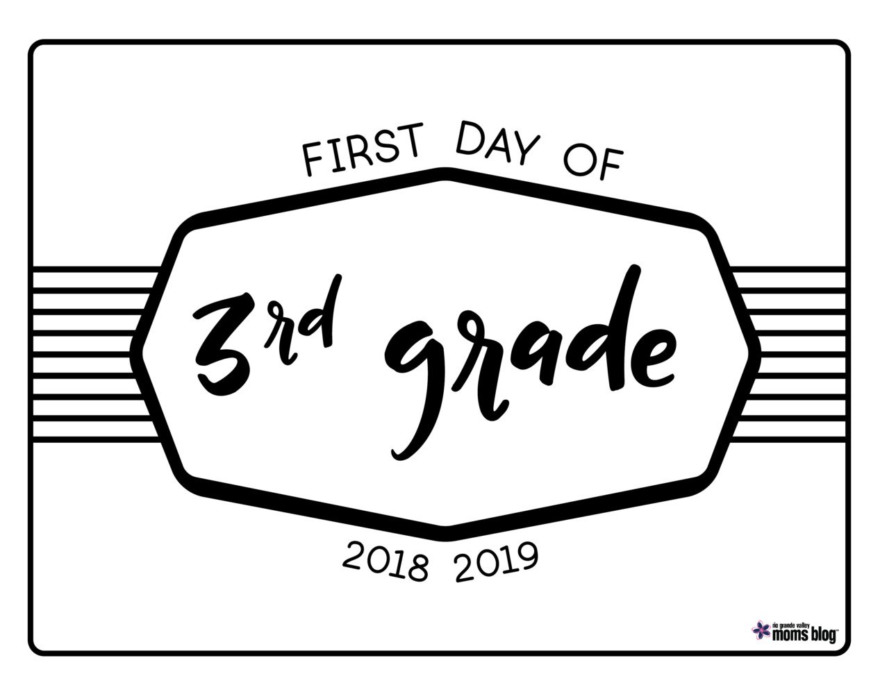 hight resolution of Back to School Printable Signs 2018