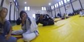 Gals talk while guys train ;)