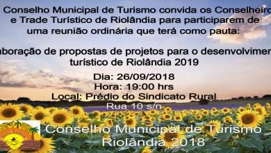 Foto de Convite COMTUR – Reunião  26/09/2018