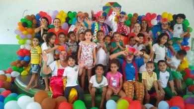"""Foto de Mês das crianças Pré – Escola Prof. """" Vilma Aidar de Carvalho"""" e Pré – Escola """" Marinha Ferreira do Nascimento"""""""