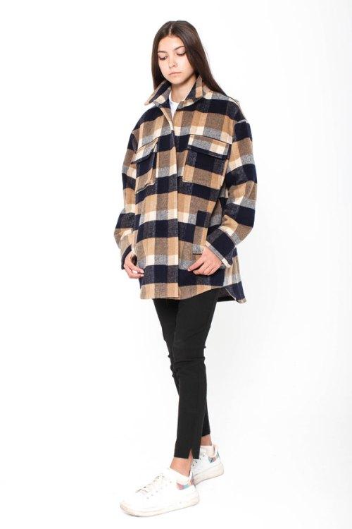 Укороченное пальто-рубашка Azell