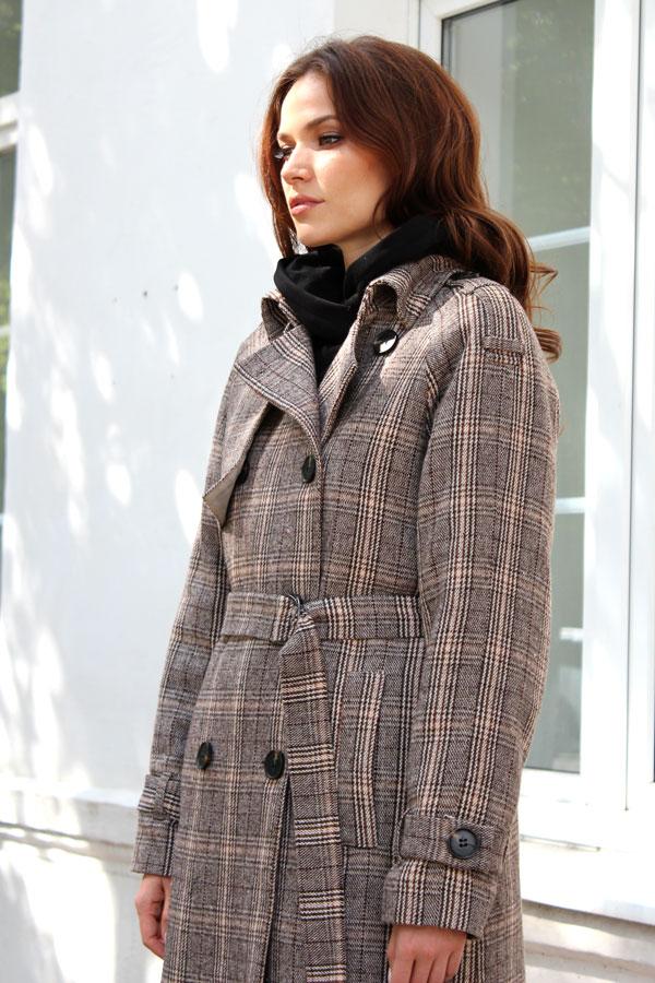 Пальто классическое клетчатое