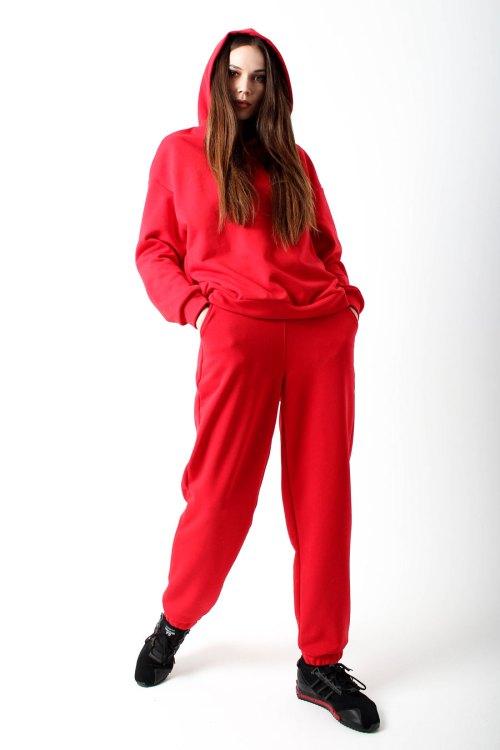 костюм спортивный женский красный