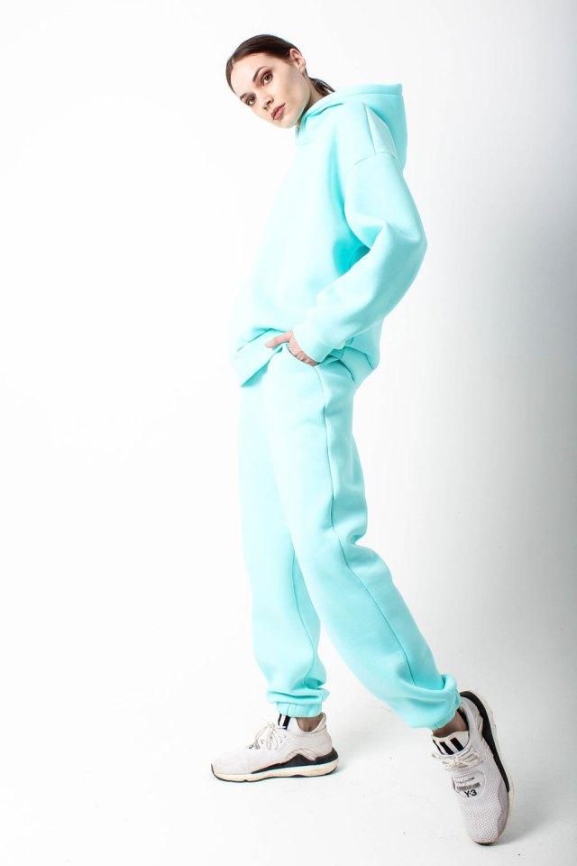 костюм спортивный женский васильковый