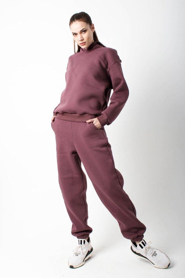 костюм спортивный женский брусничный