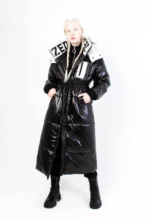 Утепленное пальто Zet белое