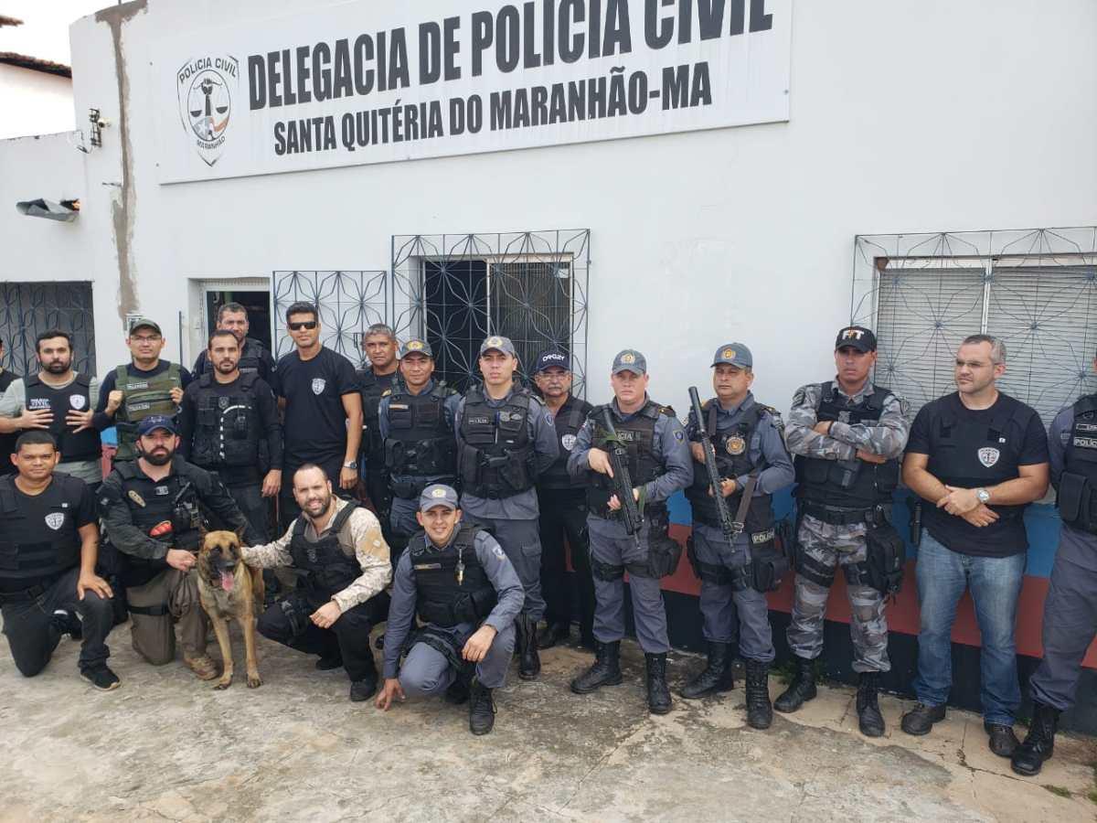Operação policial resulta em 8 presos em Santa Quitéria  - MA