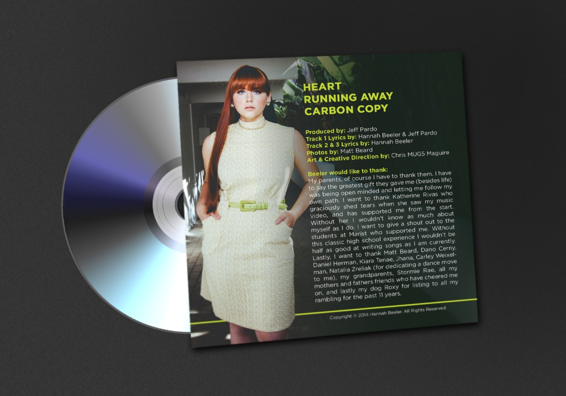 Beeler - Self Titled EP CD Jacket Back