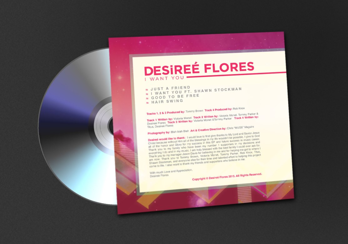 Desiree Flores   I Want You CD Jacket Back