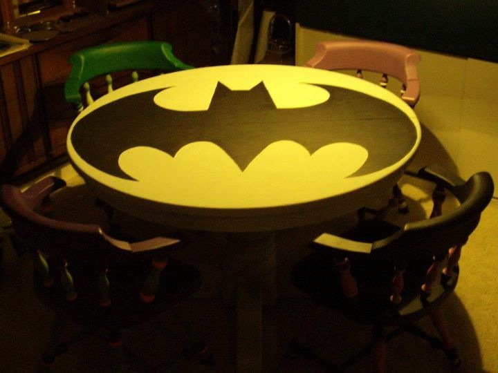 batman childrens table and chairs yoga chair exercises holy 10 super symbol tables riot daily kids