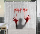 Bloody Shower Curtain And Bath Mat