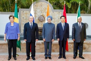 The leaders of the BRICS nations pose for a photo during the G-20 summit in Mexico last week, Brazil News