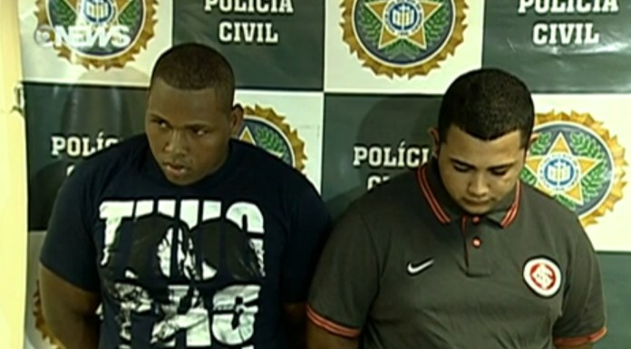 Suspects pictured at the Rio Civl Police Station