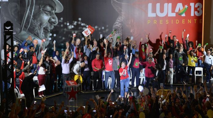 PT party convention chooses former President Luiz Inacio Lula da Silva as its presidential candidate, despite the fact that he is in jail for corruption.