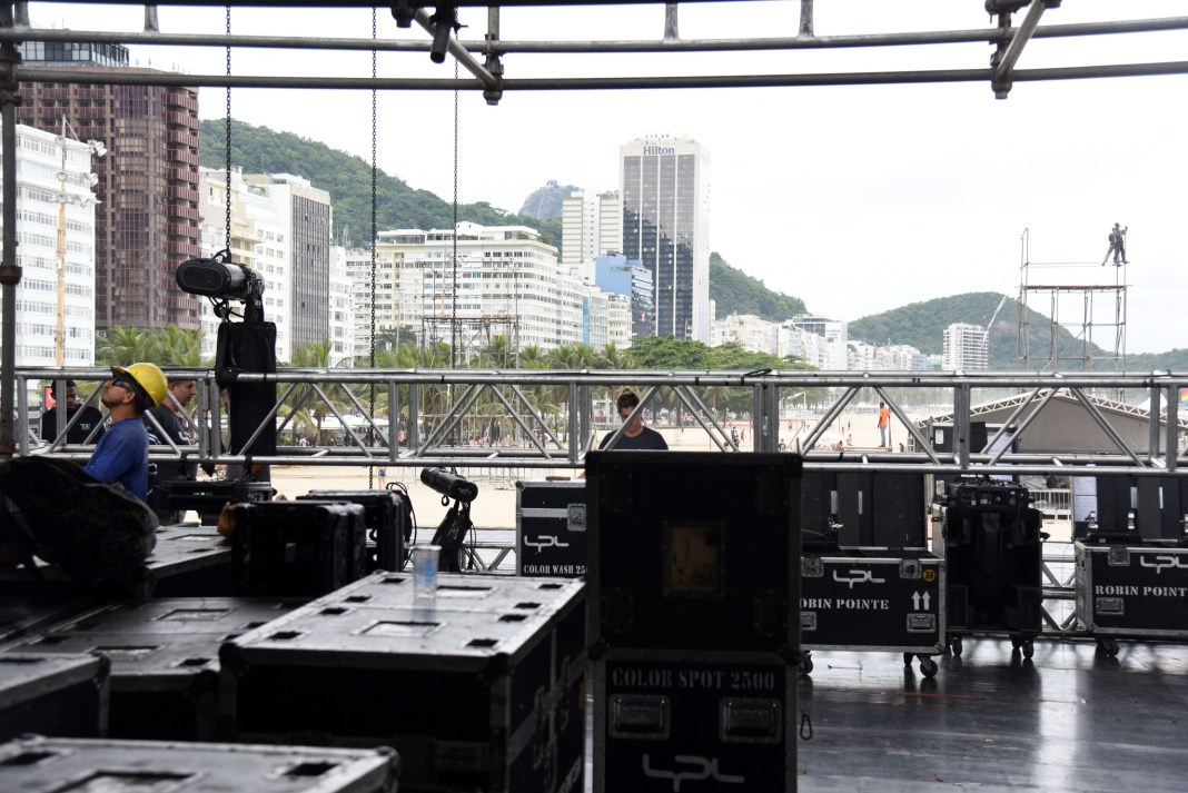 Preparations for Copacabana's huge 'Reveillon' (New Year's Eve) celebrations are in full swing, with over 2 million people expected to attend, Rio de Janeiro, Brazil, Brazil News,