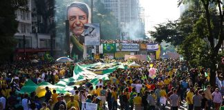 Brazilians took to Avenida Paulista in São Paulo to show support for Jair Bolsonaro's government