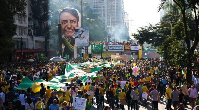 Brazilians took to Avenida Paulista in São Paulo to show support for Jair Bolsonaro's government