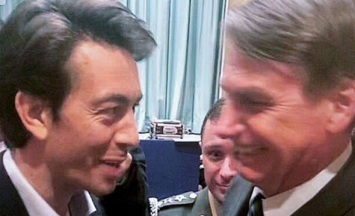 """Sartori met with Bolsonaro at the Davos Economic Forum. """"Get the left out of there,"""" allegedly recommended the Brazilian president. (Photo: Internet Reproduction )"""