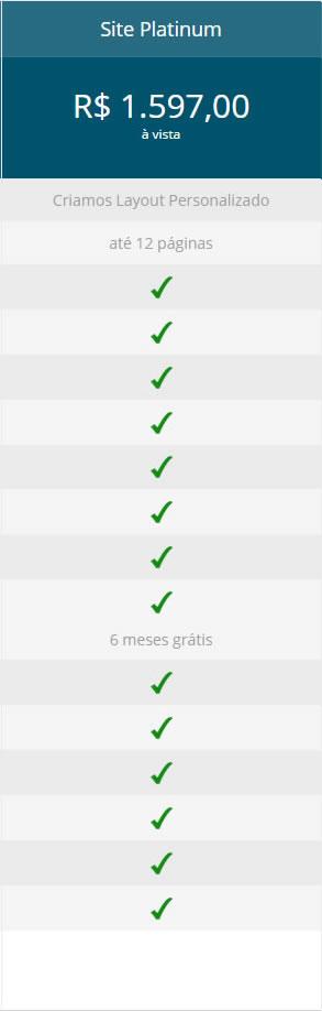Sites Baratos - Platinum