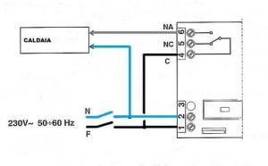 Collegamenti elettrici tra un termostato ed una caldaia