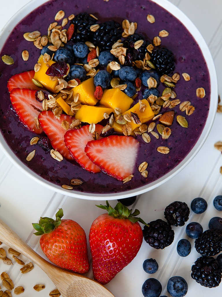 Summer Berry Smoothie Bowl Healthy Food