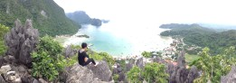 360 degree view of El Nido town from Taraw Cliff