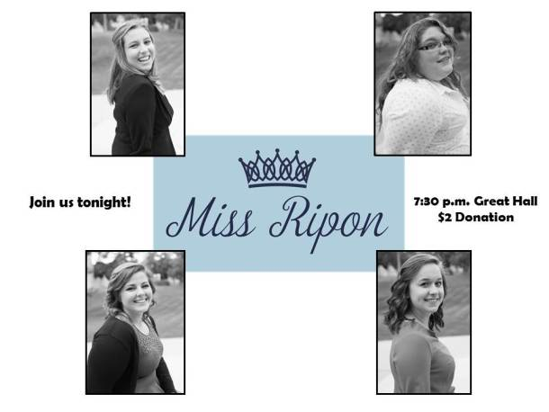 Miss Ripon College Charity Pageant