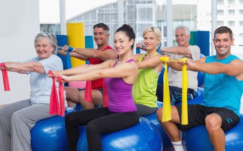 exercise with elderly