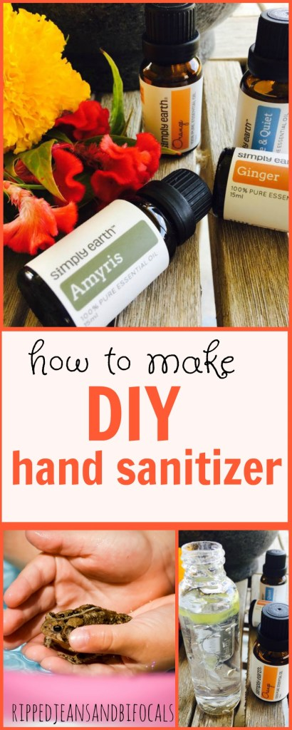 How to make DIY Hand Sanitizer with essential oils|Ripped Jeans and Bifocals