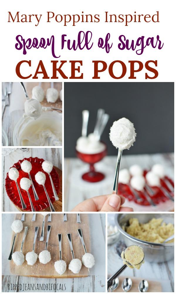 Spoon Full of Sugar Cake Pops, Easy Cake Pops, Mary Poppins Cake Pops