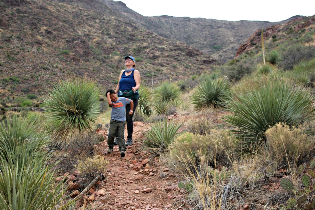 Best Places to stop on a Southwest Road Trip|Mother and son hiking in Franklin Mountains State Park, El Paso Texas