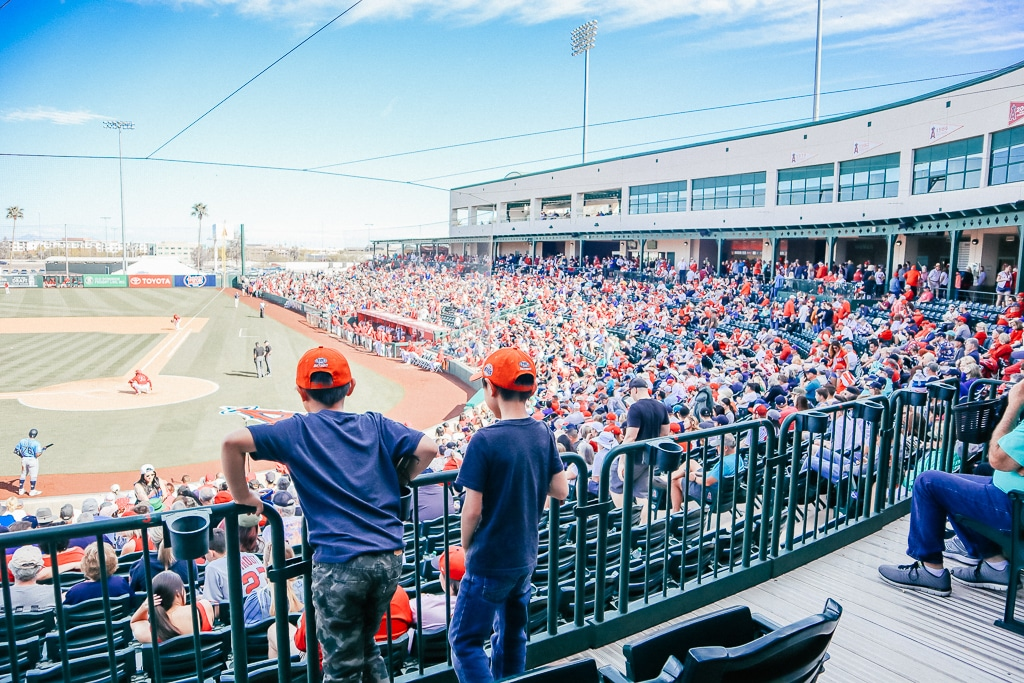The Complete Guide to Tempe with Kids|Two boys at a baseball game