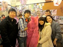 With my classmates and our lantern