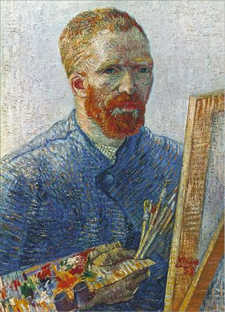 Van Gogh Self Portrait at Easel