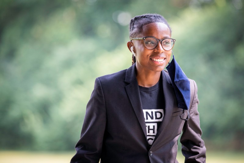 Belinda Drake, a 35-year-old queer, Black woman who ran for Indiana State Senate in District 32 (Indianapolis) in the latest election.