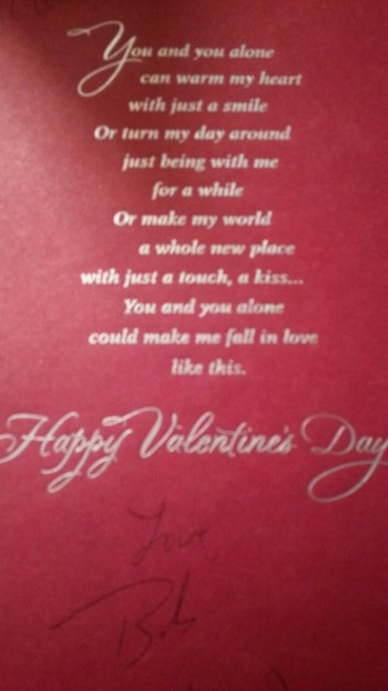 VDay card from Bob