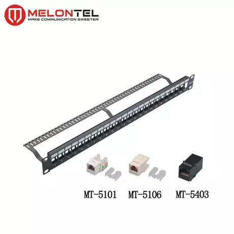MT-4201 24 Port Unloaded Blank Patch Panel with Cable