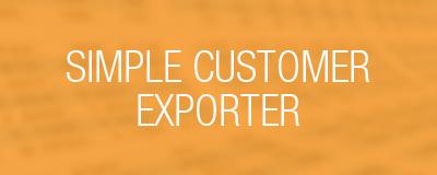 simple customer exporter
