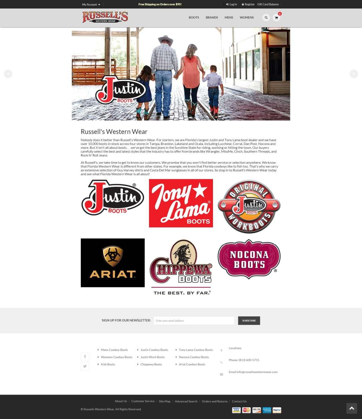russells-western-wear-ecomm-website