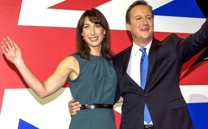 Samantha Cameron in her favourite green shift dress